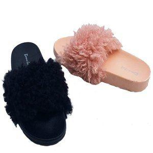 Bonnibel Fun-1 Fluffy Non-Slip Plush Slippers Flat